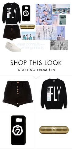 """""""we're gonna fly~~(by GOT7)"""" by destgreen ❤ liked on Polyvore featuring River Island, Bambam, Samsung and Vans"""