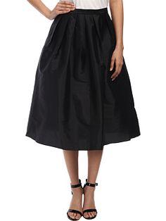 Adrianna Papell Taffeta Mid Length Skirt, Zappos
