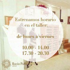 Nuevo horario en el taller! Ven a visitarnos!! Calle archeros 19 - Sevilla