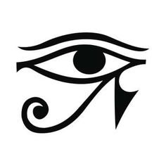 A classic depiction of the Egyptian eye. Egyptian Symbols, Ancient Egyptian Art, Egyptian Mythology, Egyptian Goddess, Ancient History, Leg Tattoo Men, Sleeve Tattoos, Tattoo Maori, Samoan Tattoo