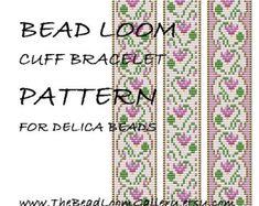 Bead Loom Cuff Bracelet Pattern Vol.24 PDF by thebeadloomgallery