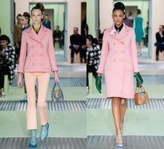 Prada Variations on beauty f/w 2015-16 El abrigo rosa, la prenda must have del otoño inverno 2015 para taparse del frío  http://bcncoolhunter.com/2015/03/abrigo-rosa-prenda-must-have-otono-inverno-2015-taparse-del-frio/ #pinkcoat #abrigorosa #Prada