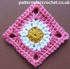 Free crochet pattern for simple granny square http://patternsforcrochet.co.uk/granny-square-usa.html use for baby blankets etc. #patternsforcrochet