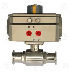 Sanitary Stainless Steel 2 Way Ball Valve with Actuator
