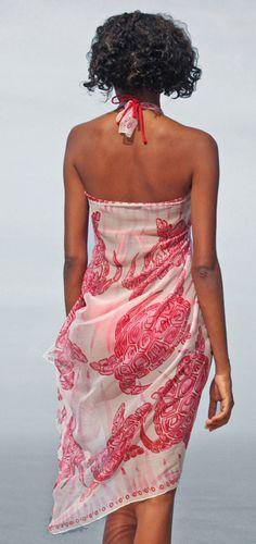 The versatile Sarong | Chiffon Silk | Turtle | Pink