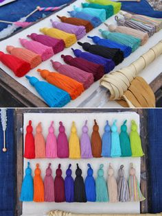 """Tassel Luxe Large Handmade Cotton Tassels, 3.75"""" You Choose Color Designer Quality, Jewelry Making Supply, Interior Design, Summer Trend"""