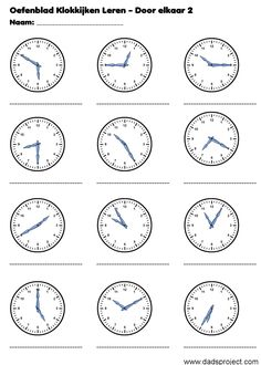 Clock Worksheets, 1st Grade Math Worksheets, English Grammar Worksheets, Teaching Time, Help Teaching, Calendar Skills, Classroom Expectations, Math For Kids, Math Activities