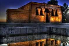 Yup, there's actually an Egyptian temple smack in the center of Madrid. The Egyptians, of course, didn't live in Spain; the Temple of Debod was actually a gift from Egypt in 1968