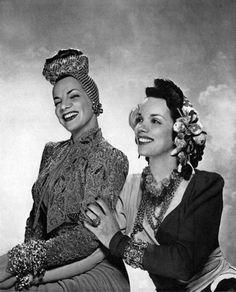 Camen Miranda & her sister Aurora - Harper's Bazaar 1941  Photo by George Platt Lynes