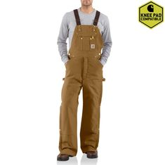 624ecab8fcfd Men's Duck Zip-to-Thigh Bib Overall/Quilt Lined R41   Carhartt Extreme