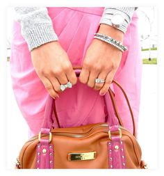 Hot pink skirt, bow ring!