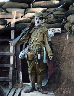 "Charlie Chaplin in ""Shoulder Arms"" - 1918"