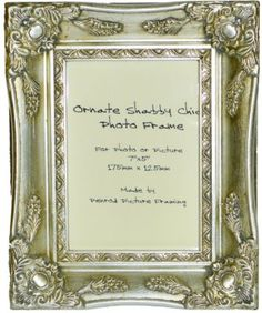 "Antique Silver Shabby Chic Ornate Swept Vintage Picture Frame For a 7"" x 5"" (178x127mm) Photo:Amazon:Kitchen & Home"