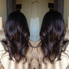 Top best Balayage hairstyles for natural black and brown hair.This subtle Balayage hairstyle looks completely natural and more stylish on long hairs. A subtle balayage is a hair color solution you can safely afford no matter what . Hair Day, New Hair, Hair Color And Cut, Hair Colour, Gorgeous Hair, Hair Looks, Hair Inspiration, Curly Hair Styles, Hair Cuts