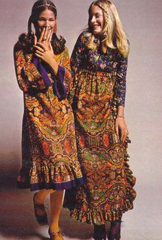 Seventeen Magazine 1970s, floral dresses