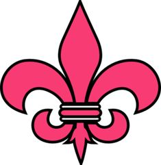 fleur de lis - pink and black Pink Love, Pretty In Pink, My Love, Clip Art, Oui Oui, Online Art, Home Crafts, Stencils, Colors
