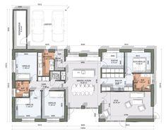 Architectural Floor Plans, House Floor Plans, Soho, Exterior Design, Planer, Design Elements, Sweet Home, New Homes, Construction