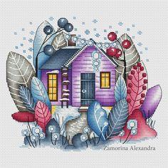 Magic winter house cross stitch design by Svetlana Sichkar - for purchase