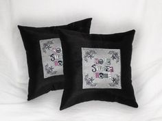 Punk Decorative pillows set of 2 Home Sweet Home by JustForGiggles, $50.00