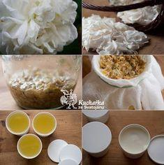 RŮŽOVÝ KRÉM | Kuchařka ze Svatojánu | Bloglovin' Homemade Cosmetics, Natural Make Up, Rose, The Balm, Herbs, Cream, Breakfast, Diy, Plants