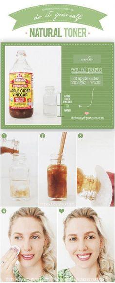 Apple cider vinegar natural toner   DIY skin toner