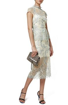 Topshop 'Poppy' Ruffle Lace Midi Dress available at #Nordstrom