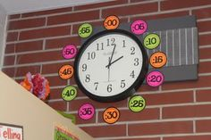 Free download... I like this idea for when we start teaching how to tell time.