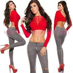 #Sensuales #pantalones #vaqueros #mujer #diseño cintura larga tejido #tejano #elasticos ceñidos al #cuerpo con #efecto #pitillos con #bolsillos y #cremallera que #estilizan tu figura para lucir #fabulosas #complementando con todo nuestro #armario en todas las epocas del año. Encuentralo en http://www.agiltienda.com/es/home/2418-vaquero-color-cintura-alta.html #shop #online #taradell @agiltienda.es