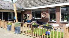 Afgeschermd plekje(terras) voor kind Hout van tenax houtbewerking, www.tuinhuisje.nu
