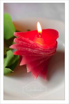 Svíčka  • vyřezávané srdce