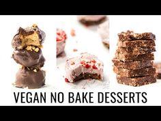 EASY VEGAN NO BAKE DESSERTS | 3 healthy recipes - YouTube