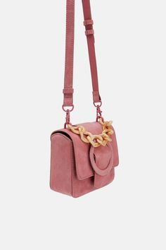 Mini borsa a tracolla in pelle con manico tartarugato da8522c0017