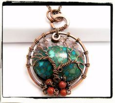 013 Turquoise Magnesite and Jasper Sleeping Tree of by FashionWire