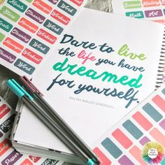 Our favorite quote found inside the @LimeLifePlanners! You can find the matching labels here ➡MileHighPlanning.com