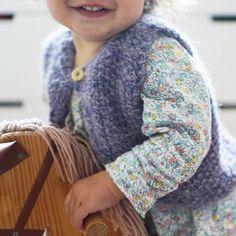 That smile! She loves the new vest #chunkyvest