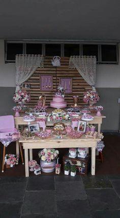 Chá da Andressa Baby Party, Tea Party, Girl Birthday, Birthday Parties, Kitchen Shower, Bar Set Up, Baking Party, Centerpieces, Table Decorations