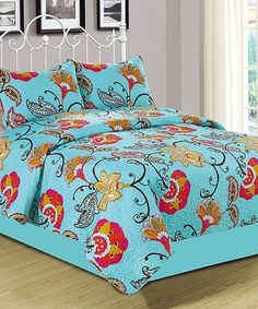Look at this Light Blue Anabelle Quilt Set on #zulily today!