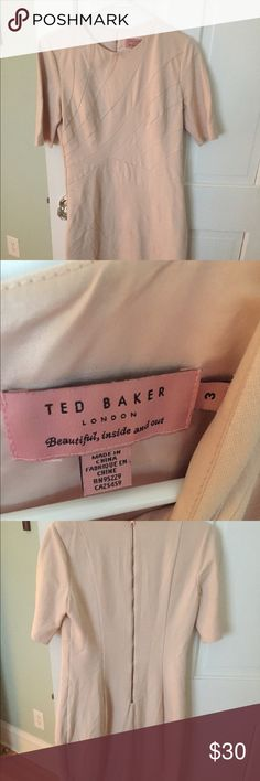 Ted Baker blush dress size 3 Ted Baker size 3 fits a size US 8/10. Ted Baker Dresses