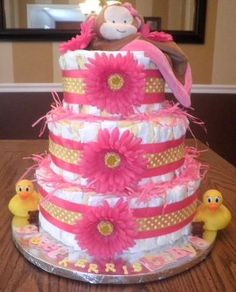 I love crafting special diaper cakes!