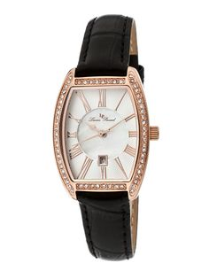 Women's Grivola Ortlet White Mother Of Pearl & Rose Gold Watch by Lucien Piccard Watches on Gilt.com