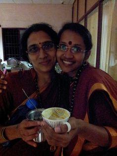 Me and my sister sannyasi during tea time at the ashram.. taken in 2013!!