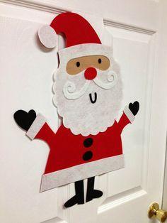Einen Weihnachtsmann als Wanddeko mit den Kindern basteln
