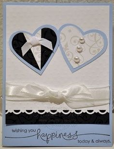 handmade wedding cards stampin up