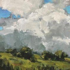 "Daily Paintworks – ""Dont Mind If It Rains"" – Original Fine Art for Sale – Shannon Bauer Source by bzetnick - Canvas Painting Landscape, Sky Painting, Landscape Artwork, Van Gogh Art, Expressive Art, Sky Art, Fine Art Gallery, Art World, Painting Inspiration"