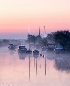 River side dawn - Dorset. England