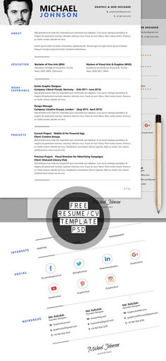 Clean Resume Word\/Indesign Template Resume Pinterest Resume - resume on word