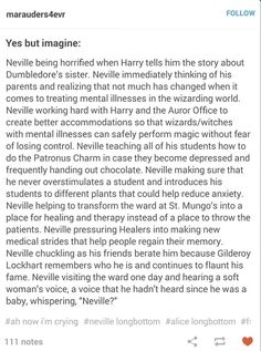 Neville works to better work in wizard mental illness - HEADCANON ACCEPTED