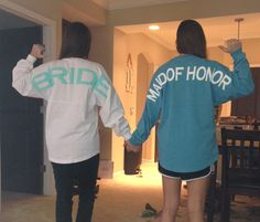 Monogrammed Maid of Honor Spirit Jersey & Matron of Honor