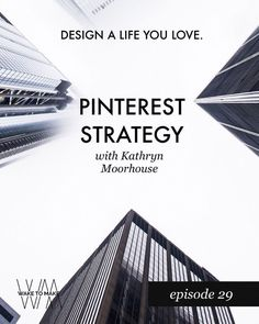 Pinterest Marketing Strategy tips with Kathryn Moorhouse on the Wake To Make Podcast.