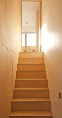 Plywood Stairs Culligan Architects No. 53 Harty Place  www.culliganarchitects.com